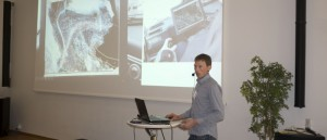 "Mattias presented ""Drones for smart forestry"". Photo: UASForumSweden.se"