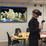 Forest in virtual reality