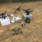 Three drone systems, four different cameras