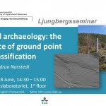 Seminar: LiDAR and archaeology: the importance of ground point classification